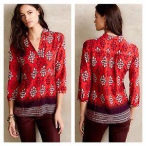Maeve woodland walk Button down blouse